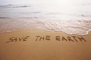 rette die Erde foto