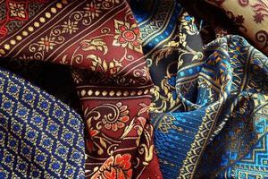 antikes asiatisches Textil foto
