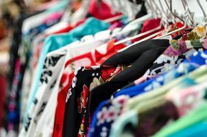 asiatische Kimono Auswahl foto