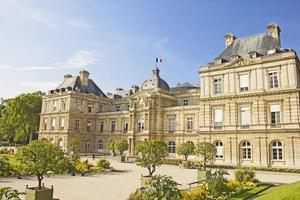 französischer Senat und der Jardin du Luxembourg, Paris foto