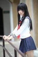 asiatisches Schulmädchen foto