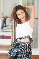 Porträt schönes asiatisches Mädchen foto