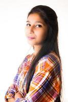 asiatisches Porträt der jungen Frau foto