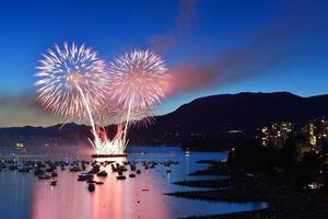 Feuerwerk in der englischen Bucht foto