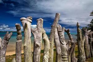 Denkmal für Missionare auf einer abgelegenen Pazifikinsel foto