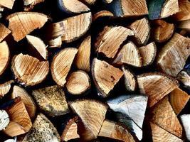 Textur von Holzstapel. foto