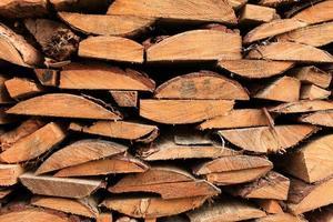 Stapel Brennholz