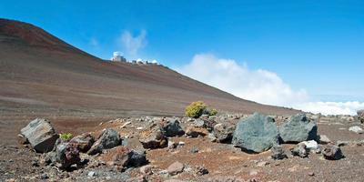 Observatorium im Haleakala-Nationalpark auf der Insel Maui foto