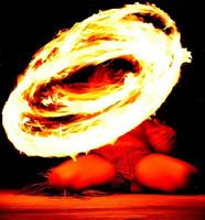 beheizter heiliger Feuerstab foto