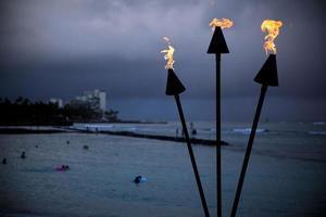 Waikiki brennende Fackel