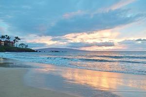 Wailea State Beach Sonnenuntergang foto