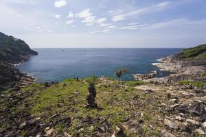 Aussichtspunkt auf der Tachai-Insel in Thailand foto