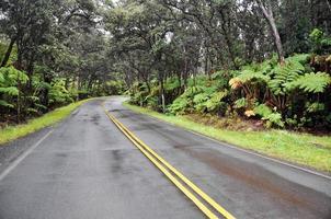 Kette von Kratern Straße, Hawaii Vulkane Nationalpark (USA)