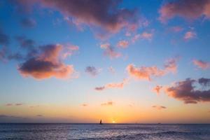 Sonnenuntergang am Meer foto
