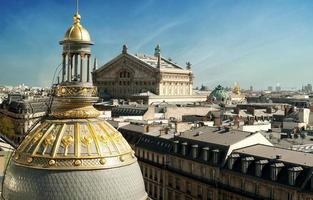 Oper von Paris Blick von Dach - Frankreich foto