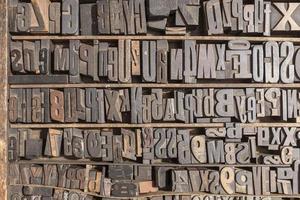 Buchdruck Alphabet foto