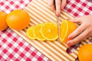 frische Orangenfrüchte foto