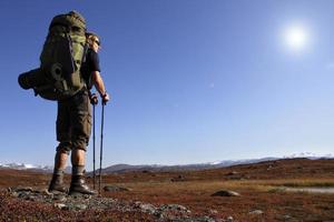 Wanderer auf Tour foto