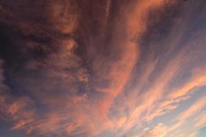 Wolken in Flammen foto