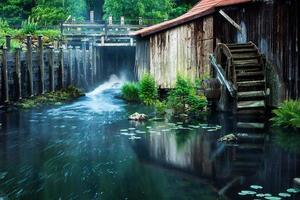 altes Wasserrad foto