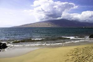 Lanai Blick von der Insel Maui foto