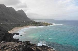 Makapuu Aussichtspunkt in Oahu, Hawaii foto