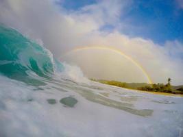 Fässer und Regenbogen foto