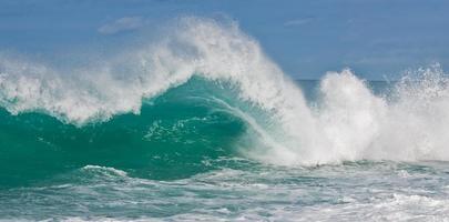 Wellen auf Oahu foto