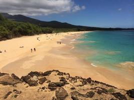 großer Strand, Maui foto