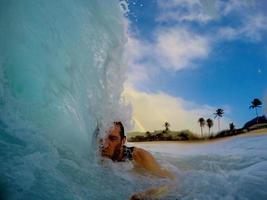 Welle auf dem Kopf foto
