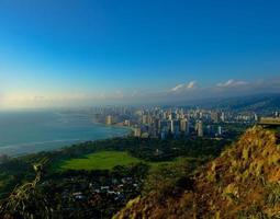 Waikiki vom Diamantkopf, oahu foto