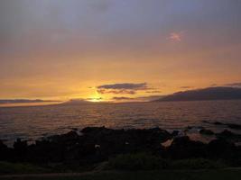 Maui in der Abenddämmerung foto