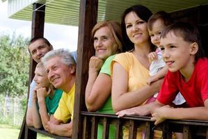 Familie einer Sieben foto