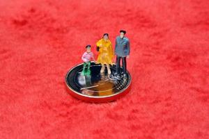 Figur Miniaturfamilie foto