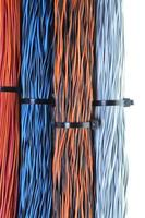 Netzwerkkabel, Drähte in Telekommunikations- und Computernetzwerken foto