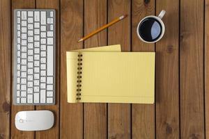 Arbeit auf dem Schreibtisch