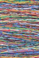 Bündel von Kabeln foto
