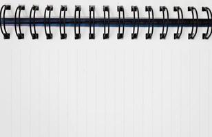 weißes Notizbuch