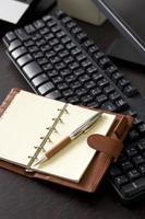 Tastatur und Organizer foto