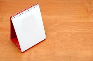 leerer Desktop-Kalender foto