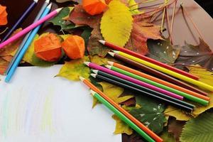 Herbst Desktop-Student foto