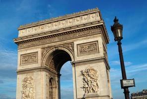 Triumphbogen in Paris foto