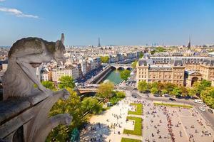 Wasserspeier auf der Kathedrale von Notre Dame foto