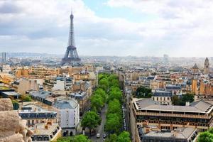 Blick auf Paris vom Arc de Triomphe. .Paris. Frankreich. foto
