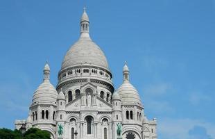 la basilique du sacre coeur in paris, frankreich. foto
