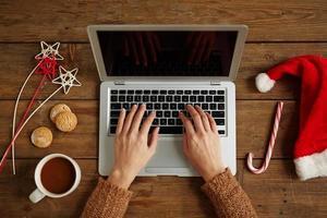 Networking an Weihnachten foto
