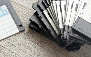Stapel gebrauchter Disketten foto