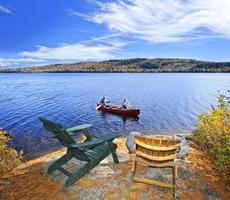 Kanufahren auf dem See