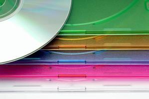 Boxen einer Box für CD von Festplatte foto