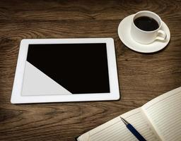 Tablet mit leerem Bildschirm foto